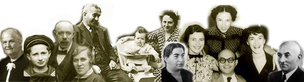 13 Personen, ebenfalls in schwarz-weiß und zugeschnitten, ein Kleinkind, ein Kind, der Rest Erwachsene.