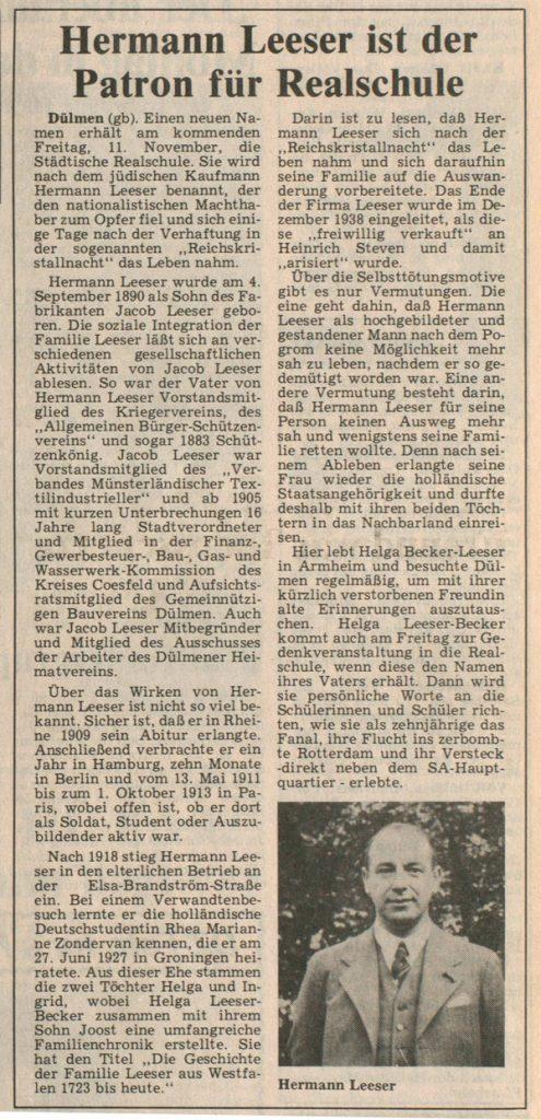 Hochformatiger Artikel mit Bild in der unteren rechten Ecke.